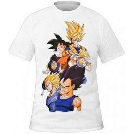 T-Shirt Mec DRAGON BALL Z - Sayan Warriors