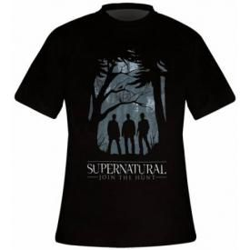 T-Shirt Mec SUPERNATURAL - Group Outline