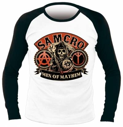 Sons of Anarchy Manches Longues pour Homme-Motif Men of Mayhem-Noir