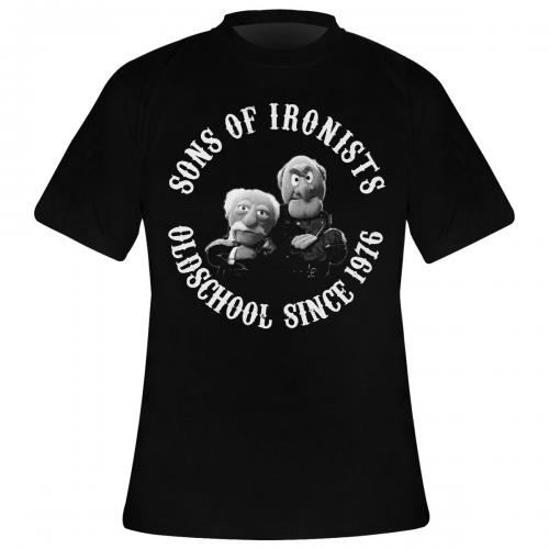 t shirt homme the muppet show sons of ironists rock a gogo. Black Bedroom Furniture Sets. Home Design Ideas