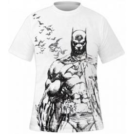 T-Shirt Mec BATMAN - Batman Fly Draw