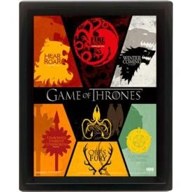 Mini Cadre Poster 3D GAME Of THRONES - Sigils
