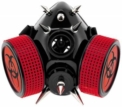 masque gaz cyber red biohazard rock a gogo. Black Bedroom Furniture Sets. Home Design Ideas