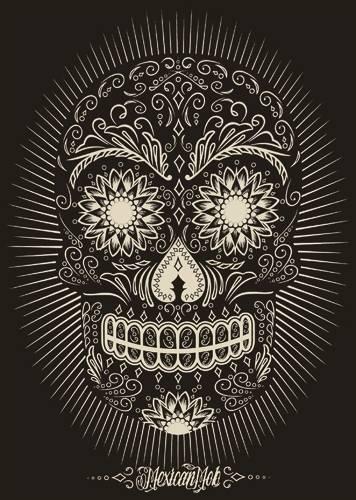 Skinny nana mexican mob azucar t shirts rock a gogo - Tete de mort mexicaine tatouage ...