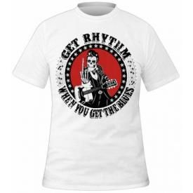 T-Shirt Mec MEXICAN MOB - Cash White