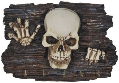 porte clefs mural dark d co skeleton porte cl s rock. Black Bedroom Furniture Sets. Home Design Ideas