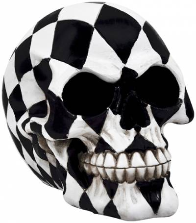 t te de mort dark d co harlequin skull cr nes rock a gogo. Black Bedroom Furniture Sets. Home Design Ideas