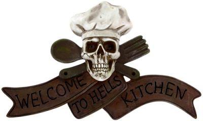 Plaque murale dark d co hell kitchen rock a gogo - Plaque deco cuisine ...