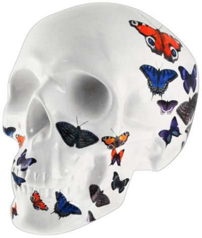 tirelire dark d co butterfly skull cr nes rock a gogo. Black Bedroom Furniture Sets. Home Design Ideas