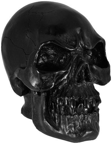 Rideau Chambre Ado Fille :  Géante DARK DÉCO  Tête de Mort Noire  Crânes  Rock A Gogo
