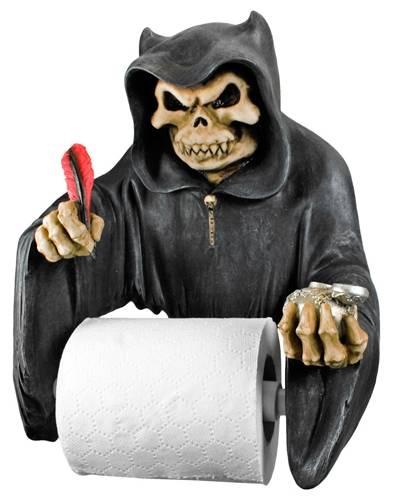 porte rouleaux papier toilette dark d co writing reaper porte rouleaux wc rock a gogo. Black Bedroom Furniture Sets. Home Design Ideas