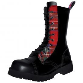 Boots NEVERMIND - 10 Holes Red Tartan