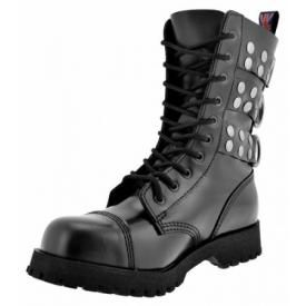 Boots NEVERMIND - Rangers Rivets 10 Holes