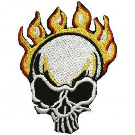 Patch TÊTE DE MORT - Skull Flame