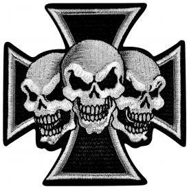 Patch TÊTE DE MORT - War Cross 3 Skulls
