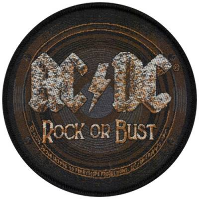 patch ac dc rock or bust patchs rock a gogo. Black Bedroom Furniture Sets. Home Design Ideas