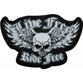 Patch TÊTE DE MORT - Live Free Ride Free