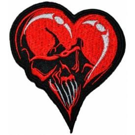 Patch TÊTE DE MORT - Heart Skull