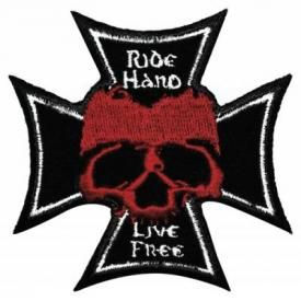 Patch TÊTE DE MORT - Ride Hard Cross
