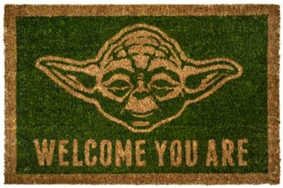 paillasson d 39 ext rieur star wars yoda welcome you are rock a gogo. Black Bedroom Furniture Sets. Home Design Ideas