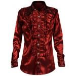 Chemise Manches Longues PENTAGRAMME - Red Jabot