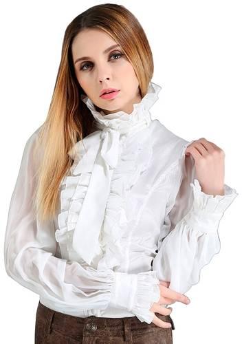 Chemise Femme PENTAGRAMME - Jabot Blanc - Rock A Gogo a83b623ed3e