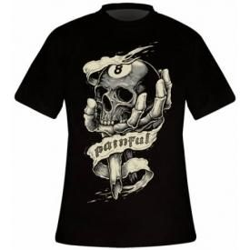 T-Shirt Mec PAINFUL - 8 Ball Skull