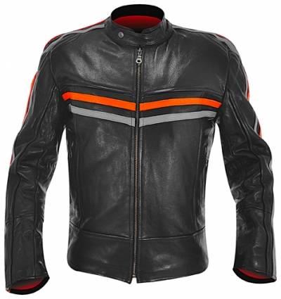 blouson cuir mec osx racing jacket vestes blousons rock a gogo. Black Bedroom Furniture Sets. Home Design Ideas