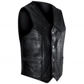 Gilet Cuir Sans Manches Homme OSX - Plain Waistcoat