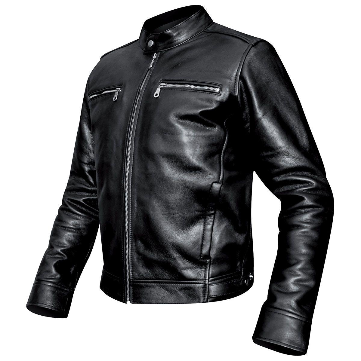 blouson cuir mec osx harrison jacket vestes blousons rock a gogo. Black Bedroom Furniture Sets. Home Design Ideas