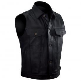 Gilet Cuir Sans Manches Homme OSX - Lee Jacket