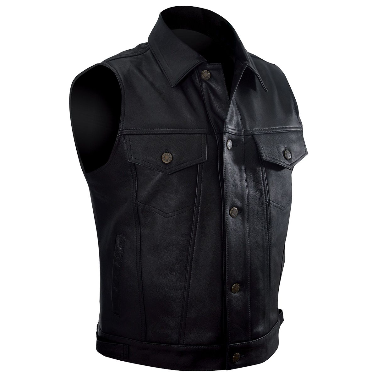 gilet cuir sans manches homme osx lee jacket rock a gogo. Black Bedroom Furniture Sets. Home Design Ideas