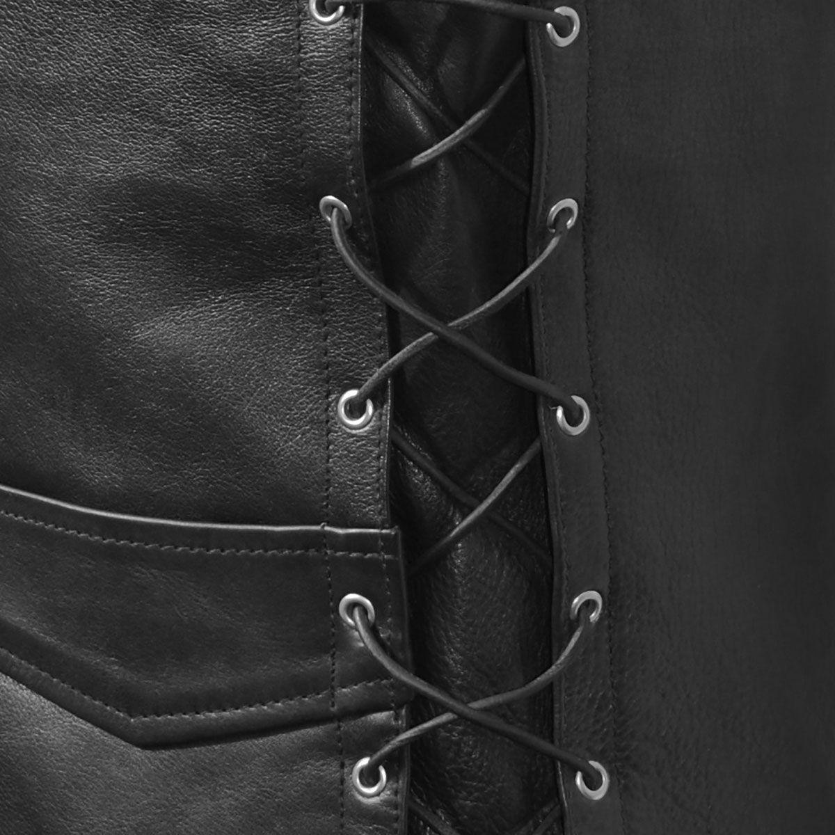 Veste sans manche cuir motard