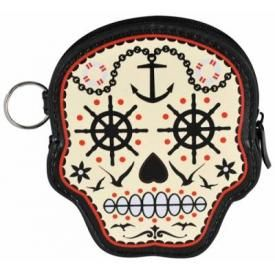 Porte Monnaie BANNED - Nautical Skull