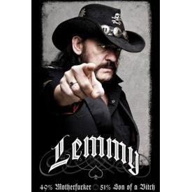 Poster MOTÖRHEAD - Lemmy 49% Motherfucker
