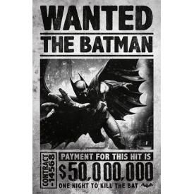 Poster BATMAN - Arkham Origins Wanted
