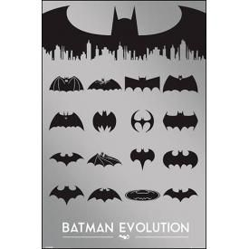 Poster BATMAN - Logo Evolution Metallic