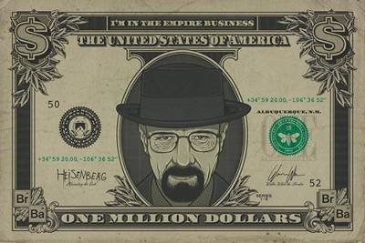b5bde0bf3d58 Poster BREAKING BAD - Heisenberg Dollar - Rock A Gogo