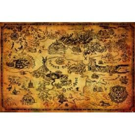 Poster NINTENDO - The Legend Of Zelda Map