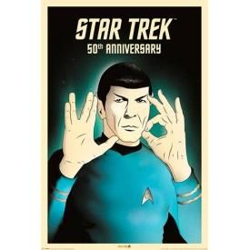 Poster STAR TREK - Spock 50th Anniversary