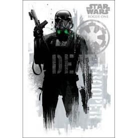 Poster STAR WARS - Rogue One Death Trooper Grunge