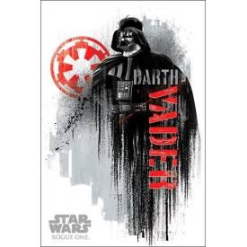 Poster STAR WARS - Rogue One Vader Grunge