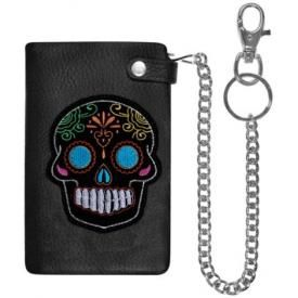 Portefeuille CUIR - Mexican Skull Black
