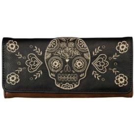 Portefeuille LOUNGEFLY - Skull & Flowers