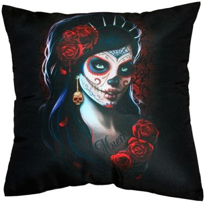 coussin spiral day of the dead coussins rock a gogo. Black Bedroom Furniture Sets. Home Design Ideas
