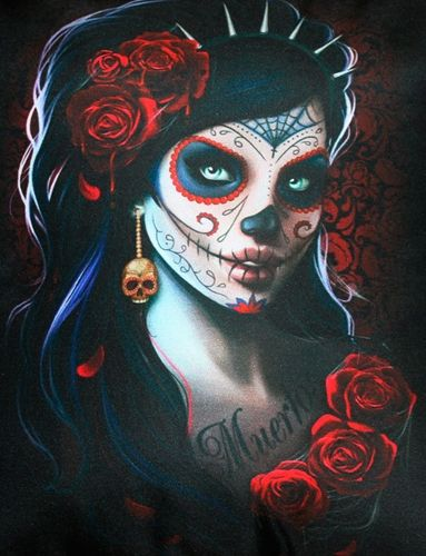 coussin spiral day of the dead rock a gogo. Black Bedroom Furniture Sets. Home Design Ideas