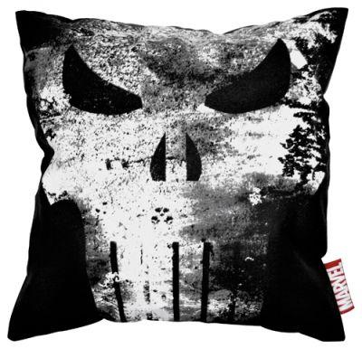 housse de coussin the punisher vintage skull logo. Black Bedroom Furniture Sets. Home Design Ideas