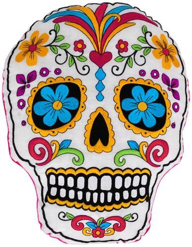 coussin t te de mort mexican skull coussins rock a gogo. Black Bedroom Furniture Sets. Home Design Ideas