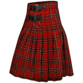 Kilt Mec QUEEN OF DARKNESS - Red Chequered