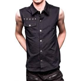 Chemise Mec QUEEN OF DARKNESS - Sleeveless Button-Down